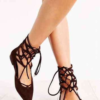 Jeffrey Campbell Atrium Lace-Up Flat-