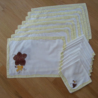 Vintage White Placemats and Napkins
