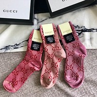 GUCCI Trending Popular Women G Letter Cotton Socks