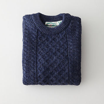 DONEGAL WOOL TRADITIONAL ARAN SWEATER