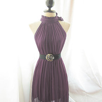 Classic Forest Green Plummy Mauvey Purple Plum by RiverOfRomansk