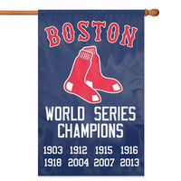 Boston Red Sox MLB Applique Banner Flag (44x28) (Champions)