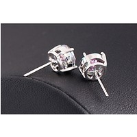 New fashion earrings simple and magnificent color zircon gold gold earrings jewelry anti - allergy