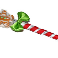 Gingerbread Man Lollipen Lollipop Candy Pen Wedding Party Favor Stocking Stuffer