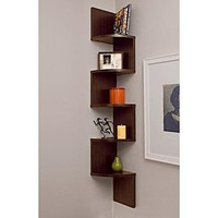 Danya B. Corner Zig Zag Wall Shelf