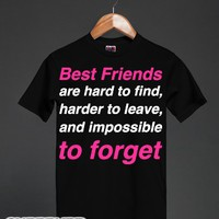 Best Friends are Impossible to Forget-Unisex Black T-Shirt
