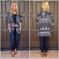 Geo Tribal Take All Cardigan