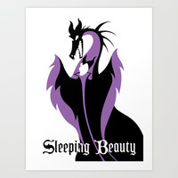 Sleeping Beauty Art Print by Citron Vert
