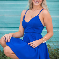 Skater Girl Dress - Blue