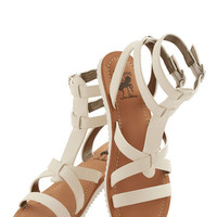 ModCloth Boho Glimmer is Served Sandal in White