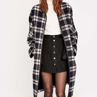 Parka London Selby Plaid Duster Coat - Urban Outfitters