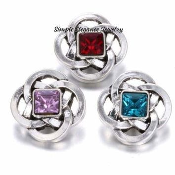 Celtic Knot Birthstone Snap Charm 18mm for Snap Jewelry