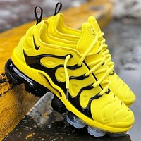 NIKE AIR VAPORMAX PLUS Fashion New Sneakers Running Leisure Sport Running Shoes Yellow