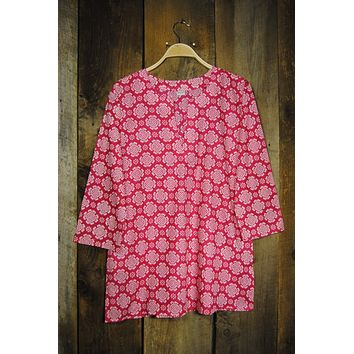 Cotton Tunic Top Tory in Hot Pink