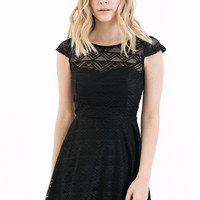 Rowan Fit and Flare Dress in Black