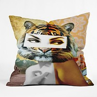 Ginger Pigg Whats New Pussy Cat Throw Pillow