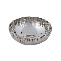 Bowl - Crinkled Stainless Steel - Round -20*7 cm