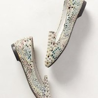 Painted Snake Loafers by Anthropologie Black Motif