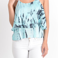 Turquoise Tie Dye Strappy Tank