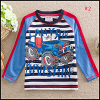 America and Europe pop Spring and autumn Pure cotton boy Long sleeve T shirt , Children's cartoon clothes #1-#4 (5pcs/lots)