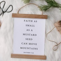 """""""Faith as small as a mustard seed"""" Canvas Poster"""