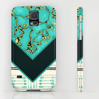 iPhone 6 ihone 6 Plus iPhone 5 iPhone 5s iPhone 5c iPhone 4 iPhone 4s Samsung Galaxy S5 Galaxy S4 Phone Case. Gold Turquoise Phone Case