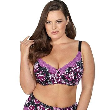 Floral Push Up Full Cup Bra