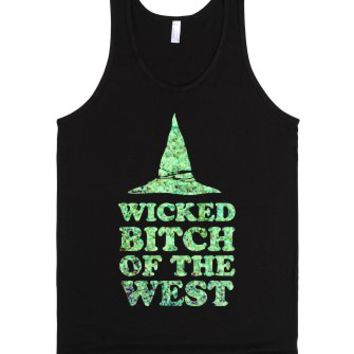 Wicked Bitch of the West-Unisex Black Tank