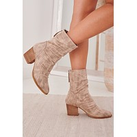 Backroad Bonfire Mid-Calf Booties (Cream)