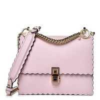 Fendi Kan I Mini Rainbow Pink Confetto Calf Leather Multi Color Stud Bag 8M0381