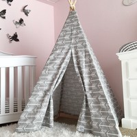 Kids Gray Teepee Arrows