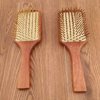 Wooden Combs Paddle Brush Wooden Hair Care Healthy Cushion Massage Hairbrush Comb For Women