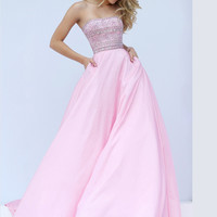 Embellished Bodice Sherri Hill Prom Ball Gown 32362