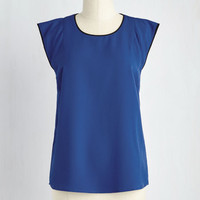 Mid-length Cap Sleeves Video Conference Queen Top