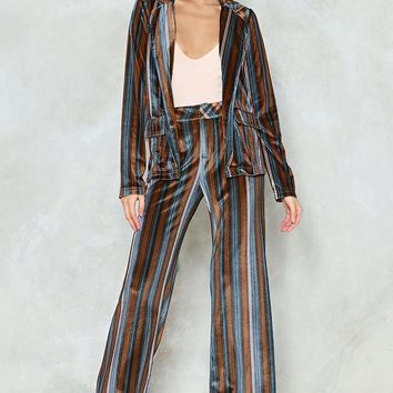 It's a Stripe of Magic Velvet Blazer