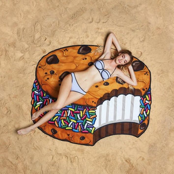 Summer Beach Throw Candy Cookie Polyester