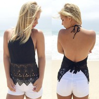 Backless Shirt Top Tee