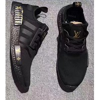 Tagre™ Adidas NMD x LV Louis Vuitton Women Fashion Breathable Running Sneakers Sport Shoes