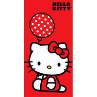 Hello Kitty - Holding a Balloon Velour Beach Towel
