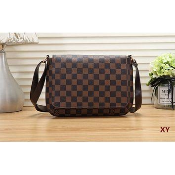 LV popular fashion women's print shopping bag single shoulder bag