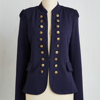 Military Mid-length I Glam Hardly Believe It Jacket in Navy