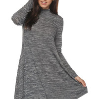 Marbled Tunic Dress in Black