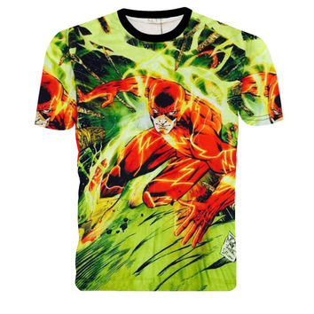 The Flash CHARGE 3D print short sleeve t shirt