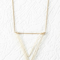 Cutout Chevron Pendant Necklace