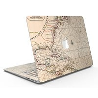 The Vintage Amerique Overview Map - MacBook Air Skin Kit