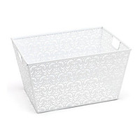 Realspace Brocade Storage Basket White by Office Depot