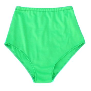 Neon Green Knit High Waist Shorts
