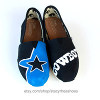 Dallas Cowboys TOMS with Star