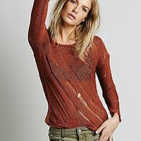 Free People Womens Raggedy Ladder Pullover