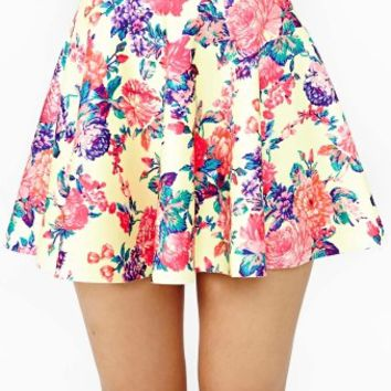 Electric Rose Skater Skirt